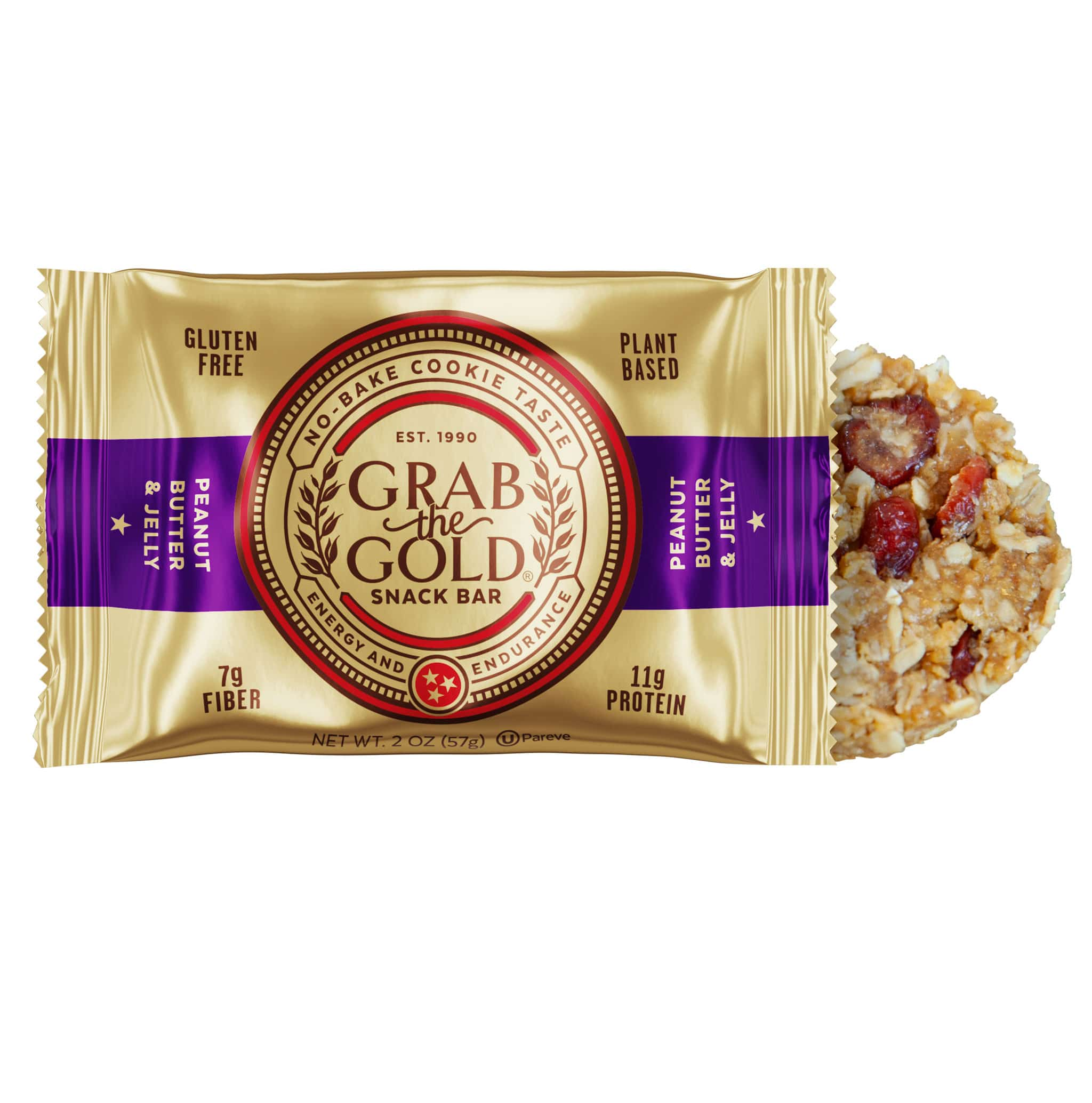 Grab The Gold PBJ Bar And Wrapper 02.20