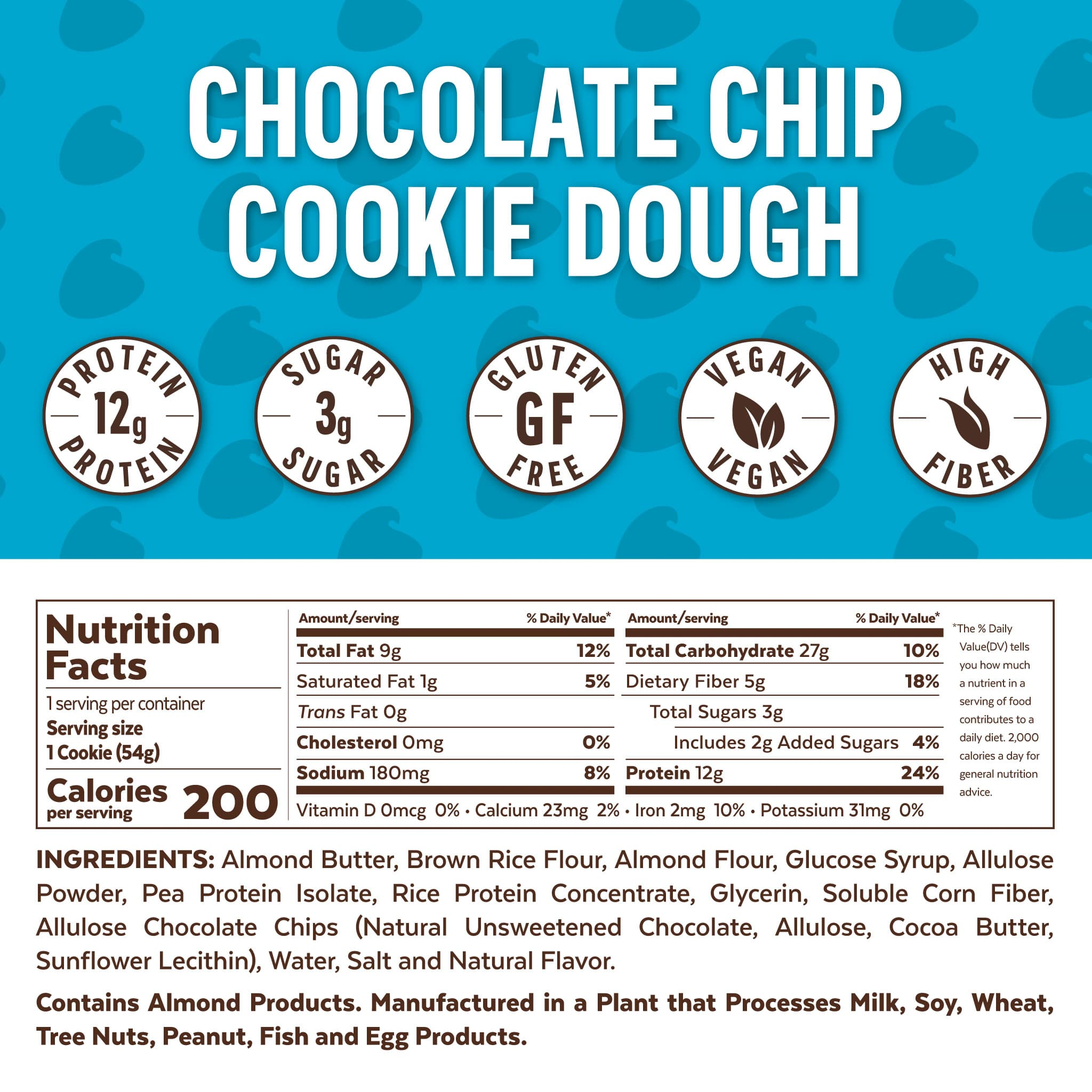 Grab The Gold Protein Cookie CCD Nutrition FactsIcons 11.20