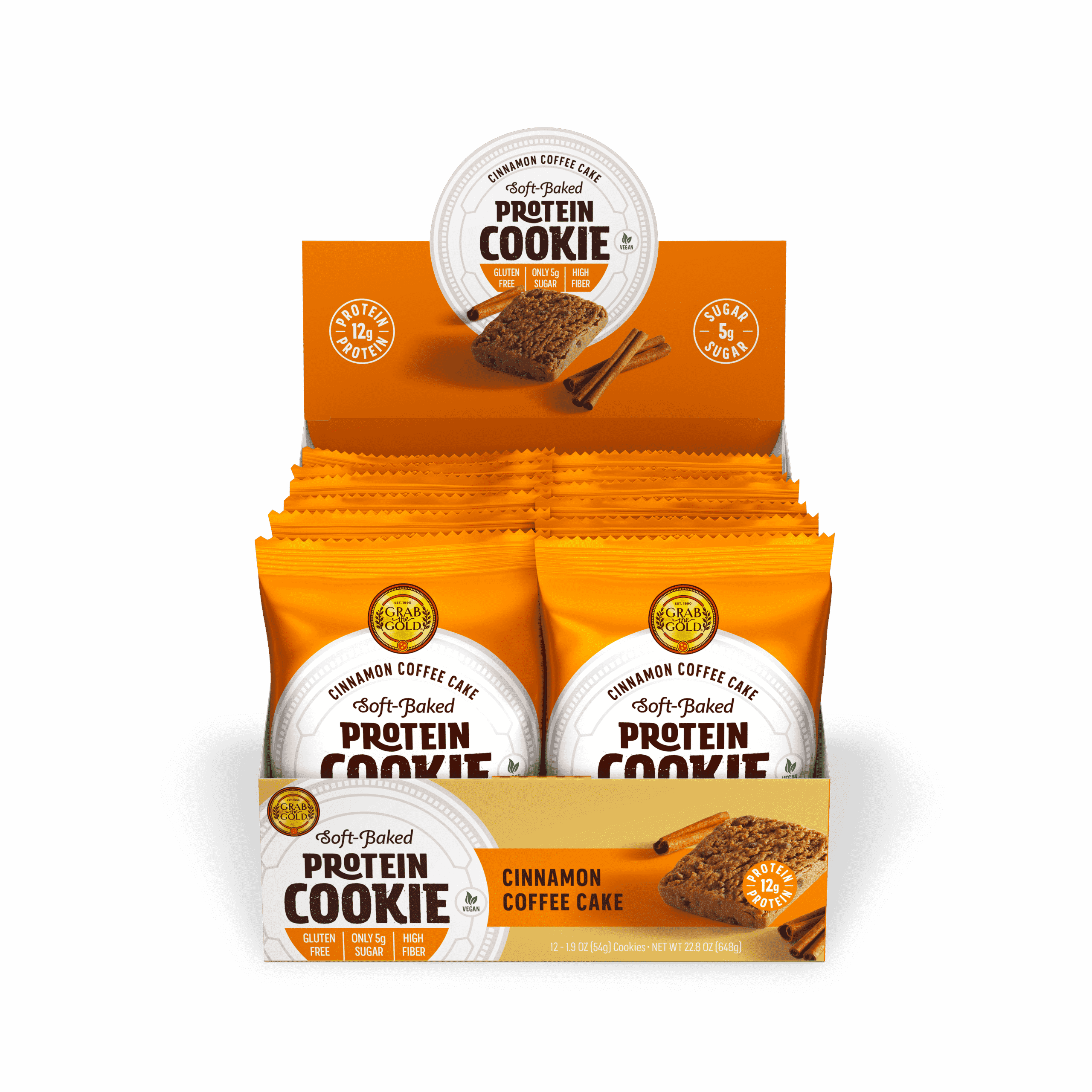 Grab The Gold Protein Cookie POS CCC Open Box 08.20