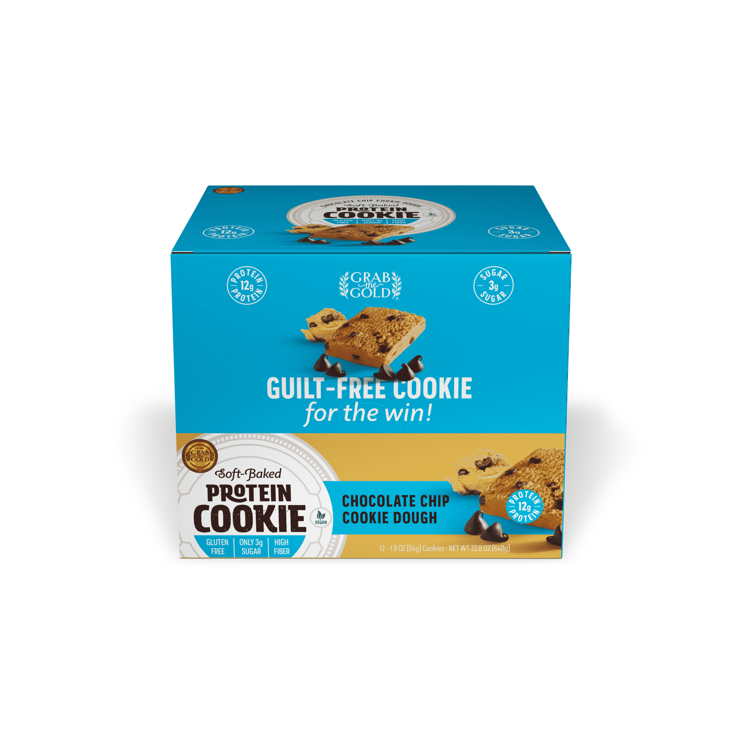 Grab The Gold Protein Cookie POS CCD Closed Box 08.20