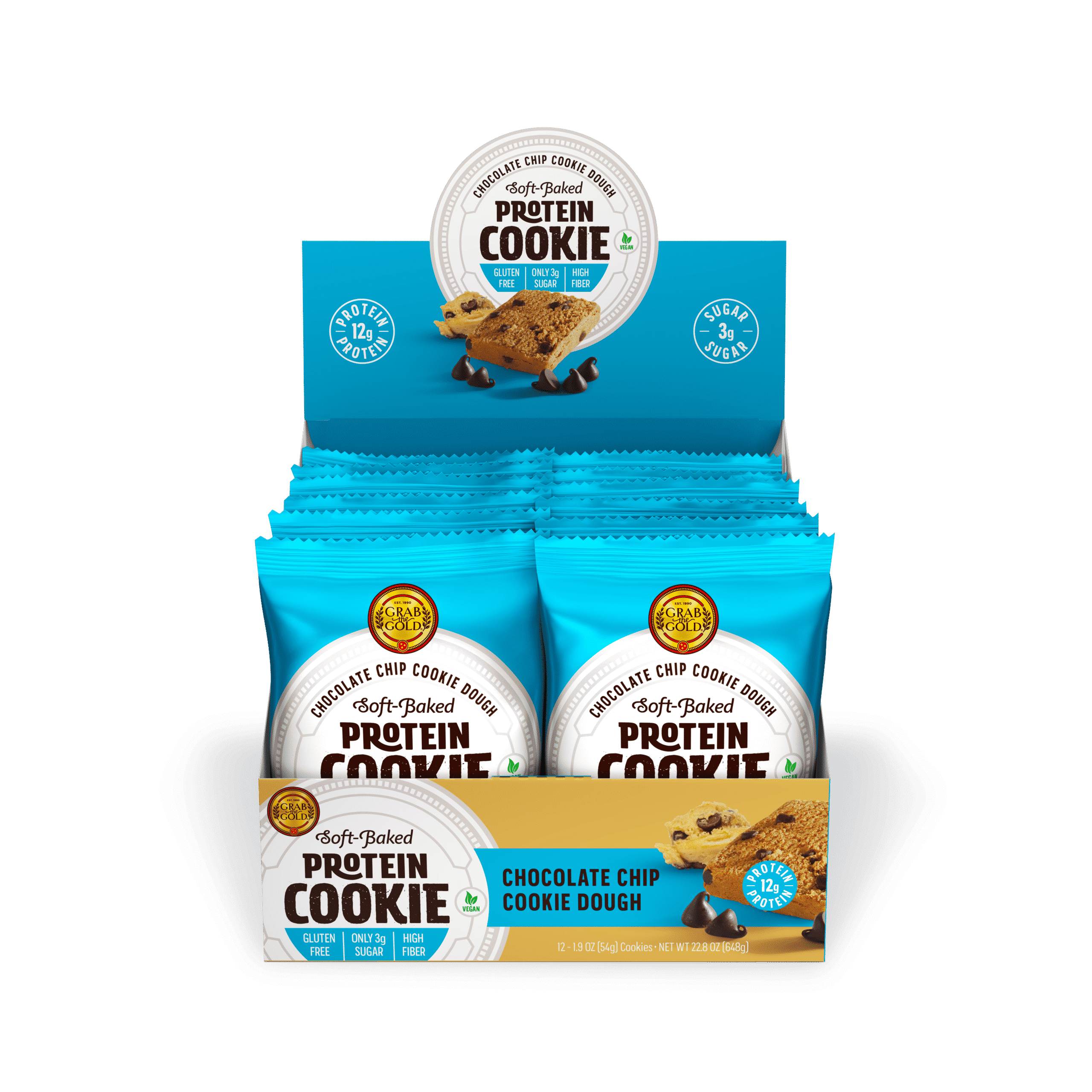 Grab The Gold Protein Cookie POS CCD Open Box 08.20
