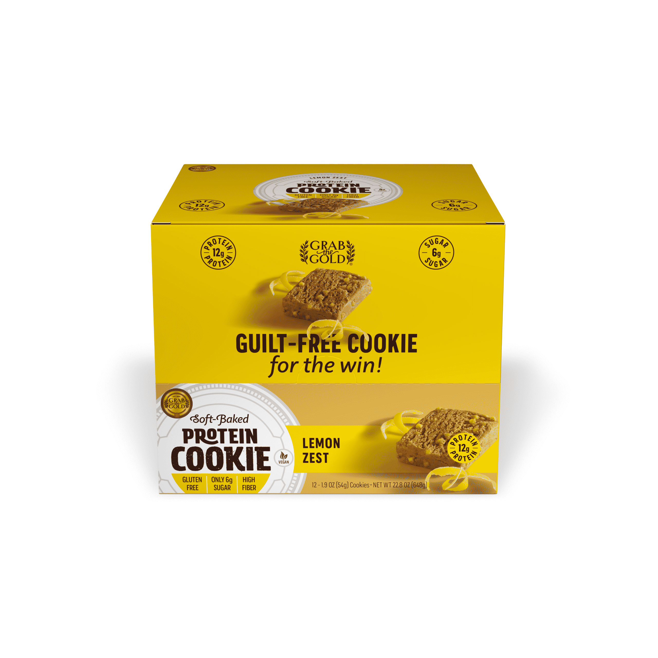 Grab The Gold Protein Cookie POS LMZ Closed Box 08.20