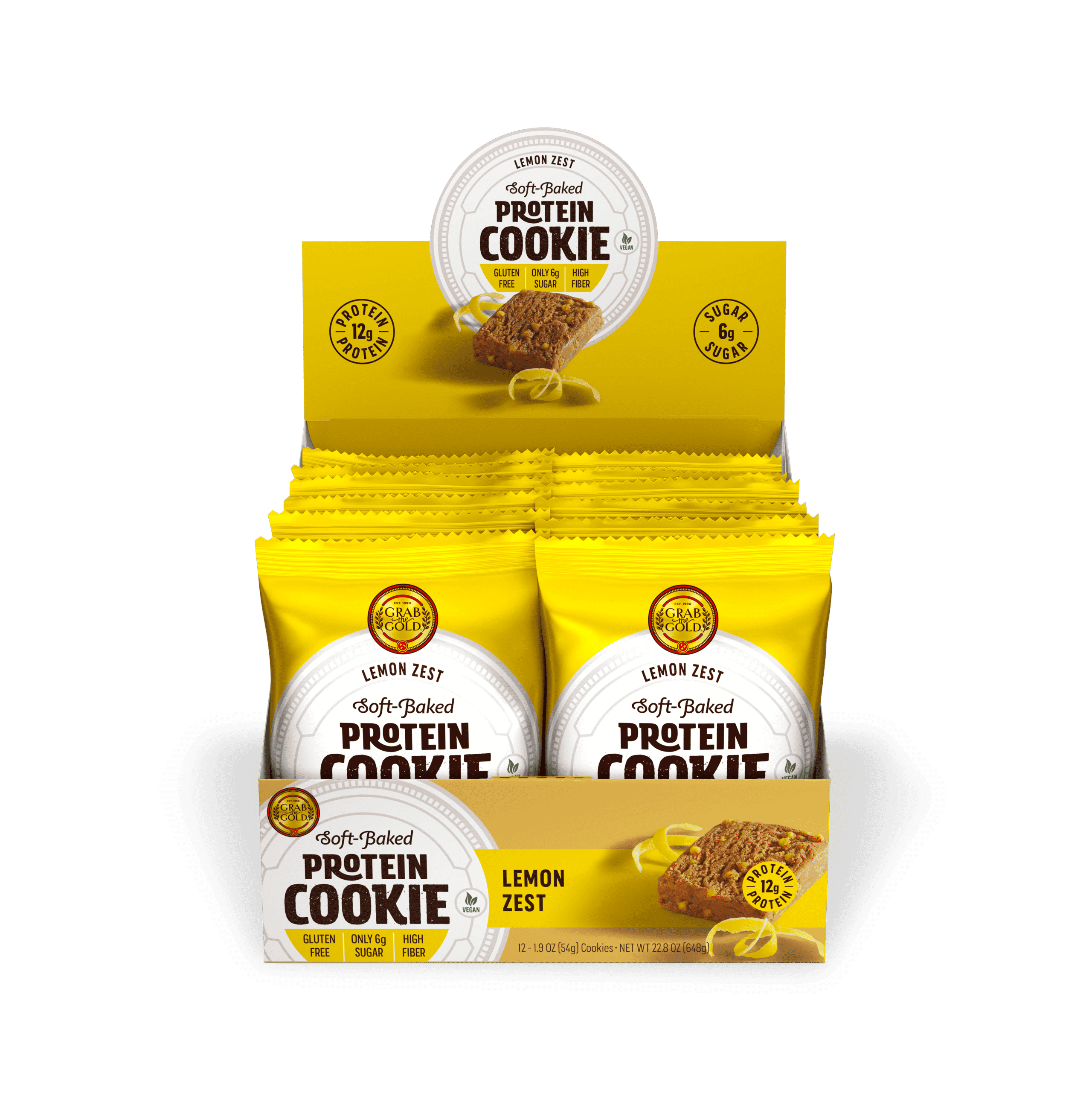 Grab The Gold Protein Cookie POS LMZ Open Box 08.20