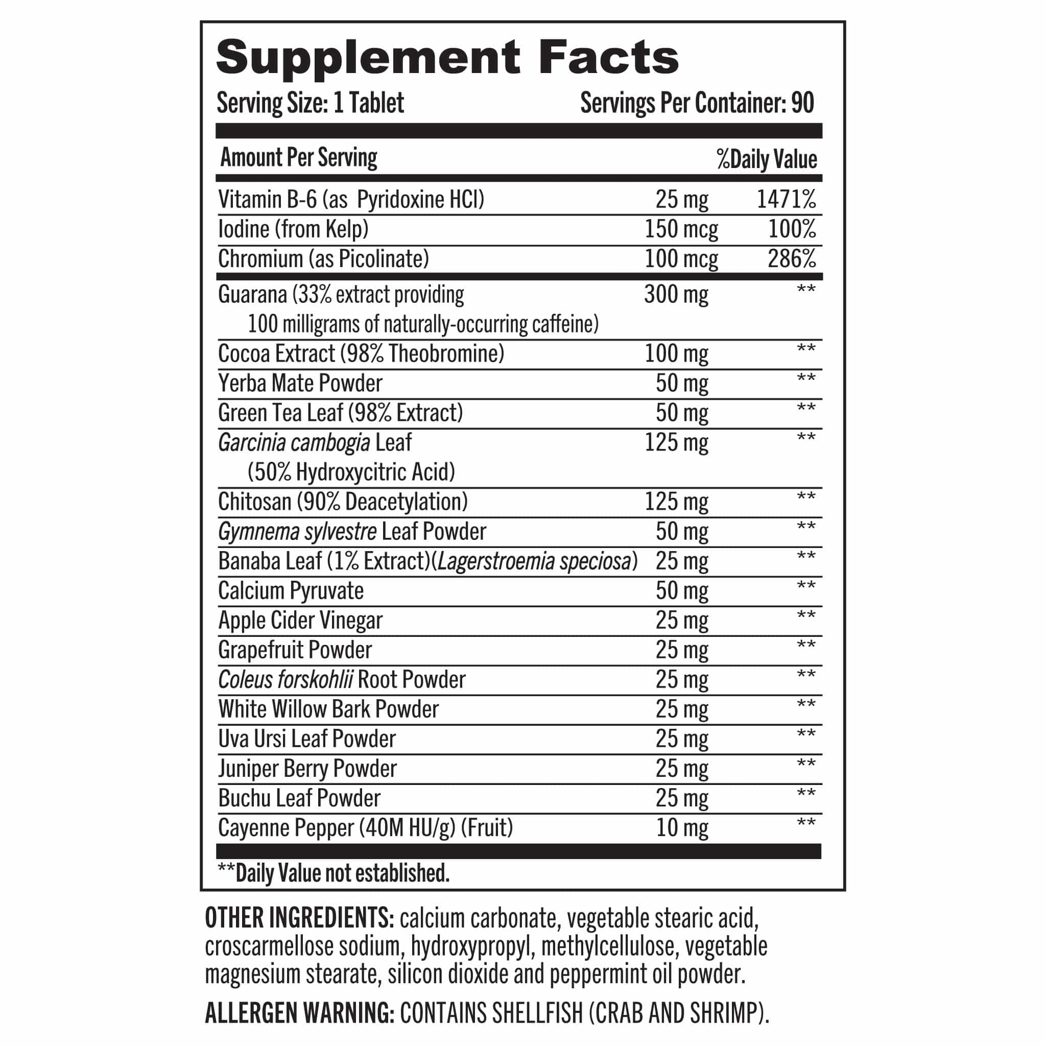 01 Grab The Gold Torch Fat Burner Nutrition Facts 03.20
