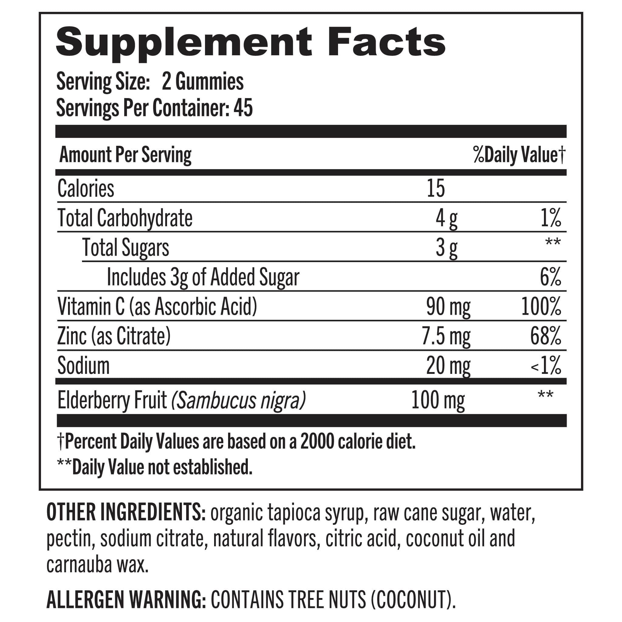 02 Grab The Gold Immune Elderberry Nutrition Facts 03.20