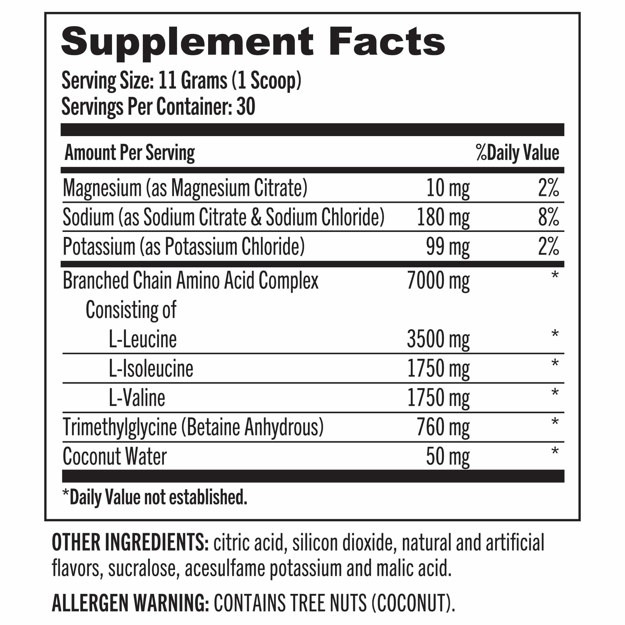 05 Grab The Gold BCAA Pump And Performance Nutrition Facts 03.20