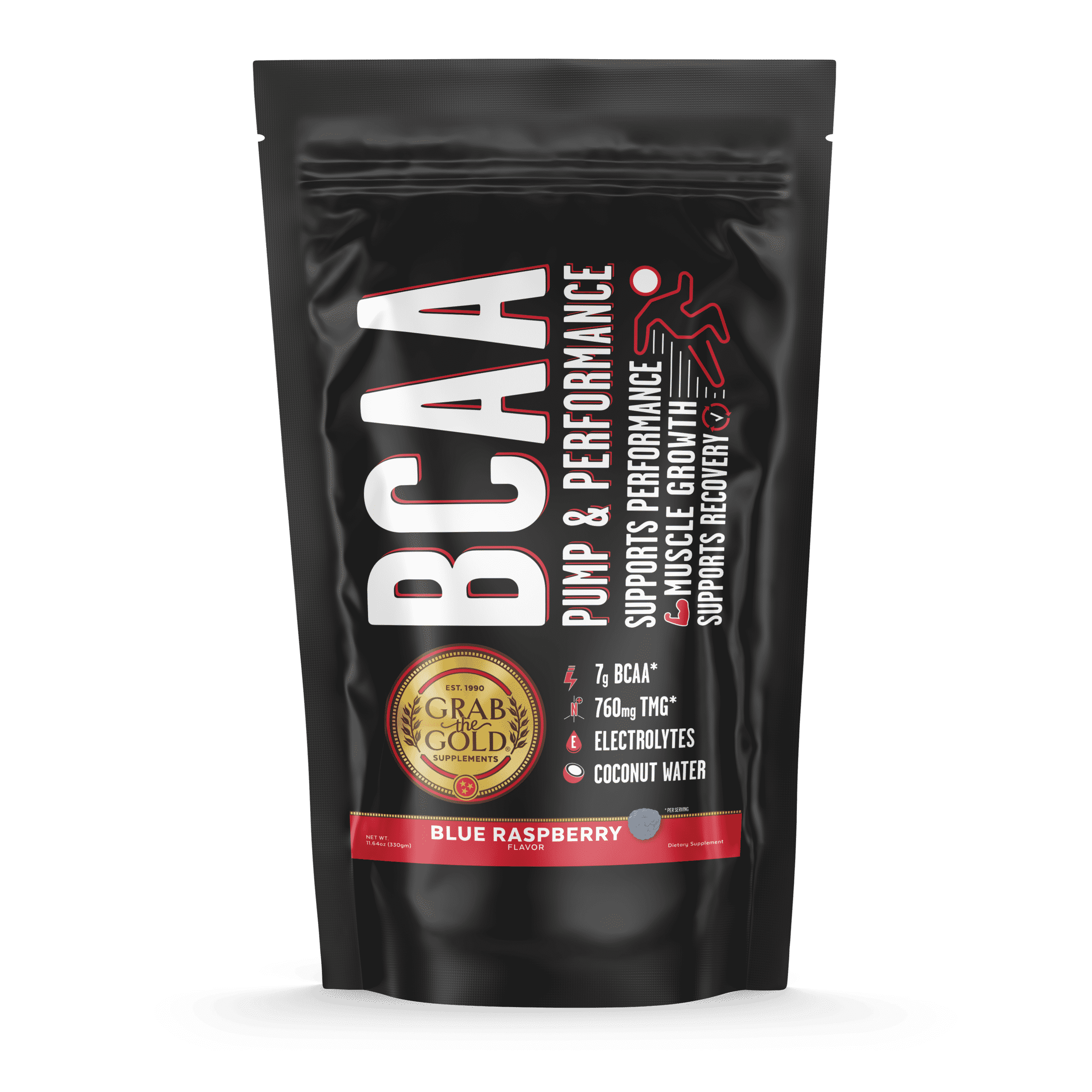 05 Grab The Gold BCAA Pump Hydrate Label NEW SIZE 23430 02.20