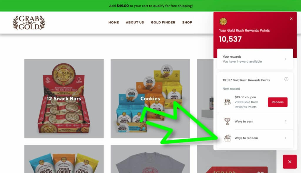 Grab The Gold Gold Rush Rewards Instructions Ways To Redeem 1