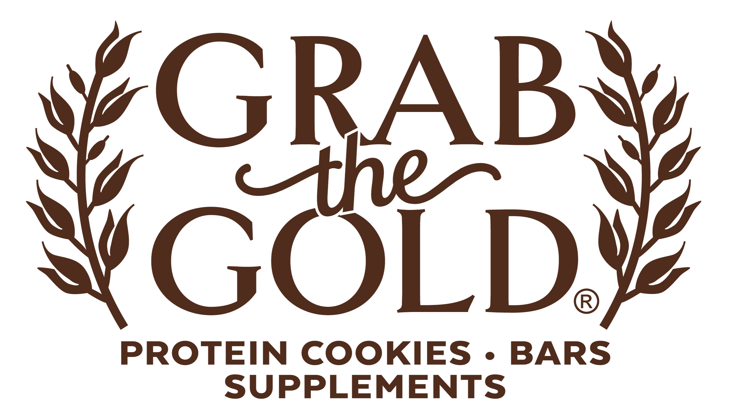 Grab The Gold Protein Cookies Bars Supplements Logo 02.20